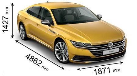Размеры Volkswagen Arteon